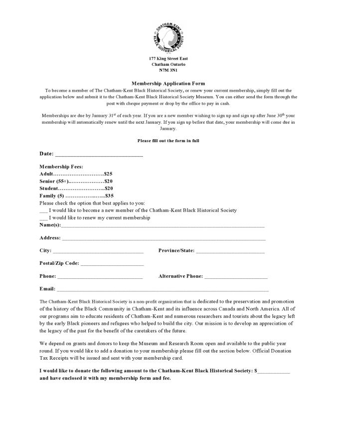 Membership Form Image